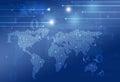 Technology Binary Code World Map Royalty Free Stock Photo