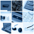 Technology collage Stock Photos