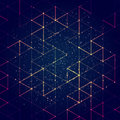 Technology concept abstract polygonal background. Vector illustration