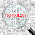 Technology concept illustration graphic tag collection wordcloud collage Stock Image