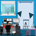 Technology concept,make video presentation - vector