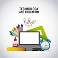 Technology and education supplies Royalty Free Stock Photo