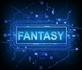 Technology fantasy concept.