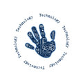 Technology hand can be used as a logo people concept Royalty Free Stock Photo