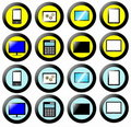 Technology Icon, Button Collection Royalty Free Stock Images