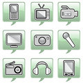 Technology icons Stock Image