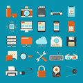 Technology icons Stock Photography