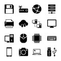 Technology icons set this is file of eps format Royalty Free Stock Photo