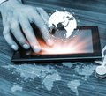 Technology people global network concept Royalty Free Stock Photo