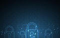 Technology security concept. Modern safety digital background