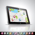 Technology styled illustration design shiny navigation device pointer set Stock Photos
