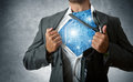 Technology super hero Royalty Free Stock Photo