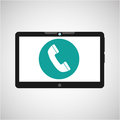 Technology telephone call social media design Royalty Free Stock Photo
