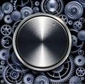 Technology volume button Royalty Free Stock Photo