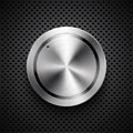 Technology volume button with metal texture Royalty Free Stock Photos