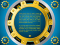 Technology website template with cogwheels golden cogwheel theme Stock Image