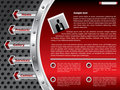 Technology website template design Royalty Free Stock Photography