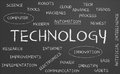 Technology word Stock Image