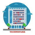 Technopark building in technocity for it firm or joint venture support facility e business or software development can be used Royalty Free Stock Photos