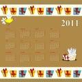 Tecknad film för 2011 kalender Arkivfoto