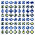 Teclas do Web do símbolo da moeda e da matemática Foto de Stock