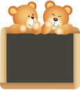 Teddies school board scalable vectorial image representing a isolated on white Stock Photography