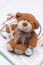 Teddy bear as a doctor Royalty Free Stock Images