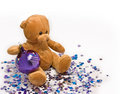 Teddy bear with ball Royalty Free Stock Photo