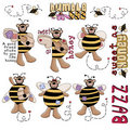 Teddy Bear Bumble Bees Royalty Free Stock Photography