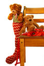Teddy bear Christmas Stock Photo