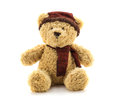 Teddy bear christmas doll toy. Royalty Free Stock Photo