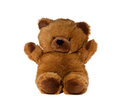 Teddy bear classic on white background Royalty Free Stock Photo