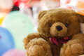 Teddy bear colorful background Stock Images