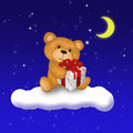 Teddy bear con il regalo Immagine Stock