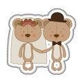 Teddy bear couple groom and bride icon image