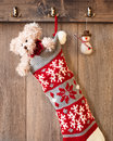 Teddy bear et bonhomme de neige Photos stock