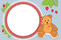 Teddy bear frame Royalty Free Stock Image