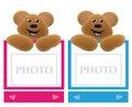 Teddy bear holding frame