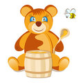 Teddy Bear with honey Royalty Free Stock Image