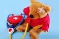 Teddy bear is ill