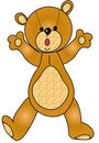 Teddy bear illustration Royalty Free Stock Image