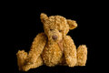 Teddy bear isolated on black Photo stock