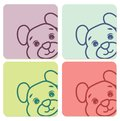 Teddy bear labels vector illustration of Stock Photography