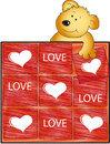 Teddy bear with love puzzle Royalty Free Stock Photo
