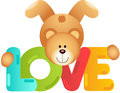 Teddy bear love scalable vectorial image representing a isolated on white Royalty Free Stock Photography
