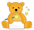 Teddy bear with magic wand Royalty Free Stock Photo
