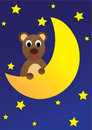 Teddy bear on the moon Stock Photo