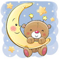 Teddy Bear on the moon Royalty Free Stock Photo
