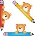 Teddy bear with pencil