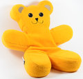 Teddy bear a photo of a yellow Stock Photography